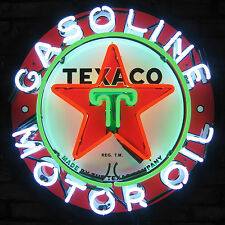 Texaco Star Motor Oil Neon Sign Texacomen Cleansystem3 gasoline gas station