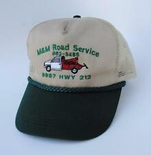 M & M ROAD SERVICE Trucker Baseball Cap Hat 9987 HWY 212 One Size