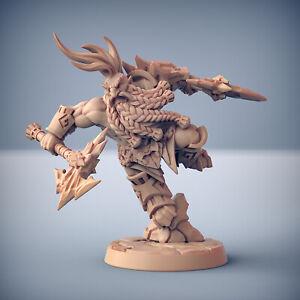 Dwarf Barbarian Reaver  - Artisan Guild Fantasy Dungeons and Dragons Miniature