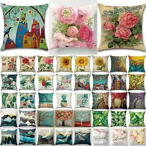 Modern Floral Throw Pillow Cases Sofa Waist Cushion Cover Home Bedroom Decors