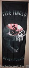 Five Finger Death Punch Speech Skull Cloth Fabric 20x59 Poster Flag Tapestry-New