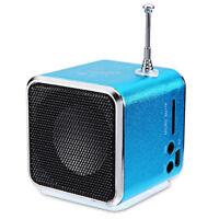 Portable Micro SD TF USB Mini Stereo Speaker Music Player FM Radio PC MP3 /4 AS