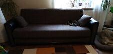 Couch, Couchgarnitur 3tlg, umklappbar mit Bettkasten, Federkern