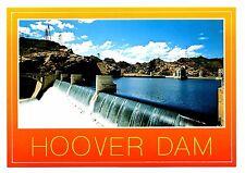 Hoover Dam Postcard Nevada Arizona Border Black Canyon First Overflow New River