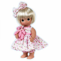 """Precious Moments 12"""" Doll Bare Foot Blessings Blonde + Gift Box New"""