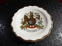 1977 Queen Elizabeth II SILVER JUBILEE Ashtray Ring Tray Royal Stafford China