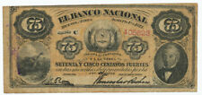 ARGENTINA - 75 Centavos Fuertes 1. 8. 1873. PS648. (AG015)