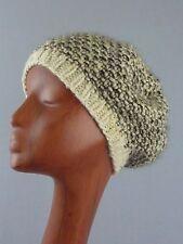 Women's Handmade Knit Winter Beret Hat Cap Beanie / Wool Blend / de Lux / Nepal