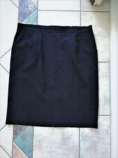 Dark Navy Blue BIB Size 16 Straight Pencil Skirt Kick Pleat Lined Large Lined