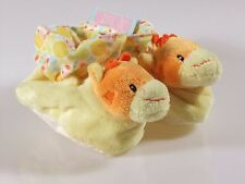 Russ Berrie Baby Booties Plush Giraffe Size 0-10 Months Shower Gift Shoes New