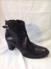Jones Boot Maker Black Ankle Leather Boots Size 38