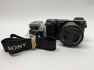 Sony Alpha α6000 24.3MP Digital SLR Camera - Black Kit 16-50mm f/3.5-5.6/PZ OSS