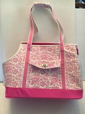 Companion Road Pet Products White & Pink Small Dog Cat Travel Carrier Bag Purse