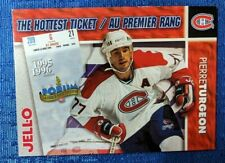 NHL VINTAGE 1996 FORUM TICKET MONTREAL CANADIENS PIERRE TURGEON JELL-O CARD