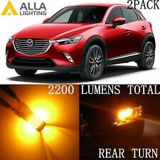 Alla Lighting LED Rear Turn Signal Light 7440NA Amber Yellow Blinker Bulbs Mazda