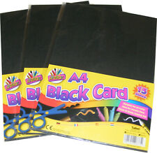 45 SHEETS OF A4 BLACK CARD FOR CRAFT - BLACK BOTH SIDES - NEW