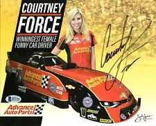 Courtney Force NHRA Drag Racing Authentic Signed 8X10 Photo BAS #B71720