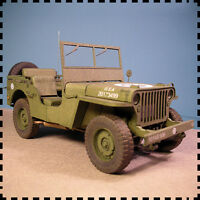 1:25 WW2 United States Willys MB Jeep Car Army Truck Handcraft Paper Model Kit