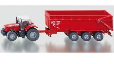 SIKU Farmer 1844 1:87 Scale Massey Ferguson Tractor with Trailer New Boxed