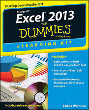 NEW Excel 2013 eLearning Kit For Dummies by Faithe Wempen