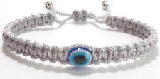 Evil Eye Amulet bracelet, Evil Eye Protection -new braided bracelet -Silver
