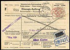 Schweiz,1929, FREISTEMPLER zu 60 C. auf R-Vordruck-NN Brief (1573004811)