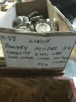 MILITARY M38 WINCH RAMSEY MODEL 50 CAPACITY 5,000LBS SEAL VICTOR 60436 BOX123