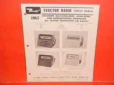 1967 JACOBSEN ALLIS-CHALMERS JOHN DEERE IH TRACTOR BENDIX RADIO SERVICE MANUAL