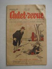 ALAIN SAINT OGAN - CADET REVUE n°143 daté de 1938 - DESSINS - HUMOUR - VINTAGE