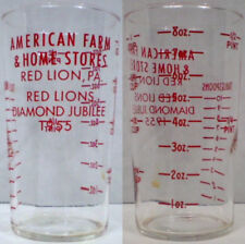 American Farm & Home Stores Advertising Measuring Glass
