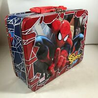 Marvel Spiderman Metal Lunch Box 2013 GO SPIDEY Embossed