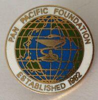Pan Pacific Foundation Pin Badge Established 1982 Rare Vintage (J6)
