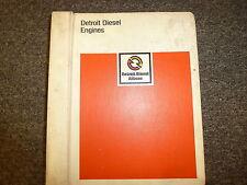 Detroit Diesel Allison 6V-71 8V-7112V-71 Engine Parts Catalog Manual Book