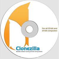 CloneZilla Hard Disk Partition Cloning and Backup software CD