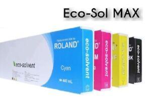 4x Tinte für ROLAND VersaCAMM SP-300 SP-540 VP-540 VP-300 / Eco-Sol MAX ESL3 INK