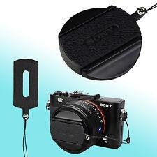 Sony RX1R II RX1 Nappa Leather Lens Cap Keeper Strap Self Adhesive Black JJC