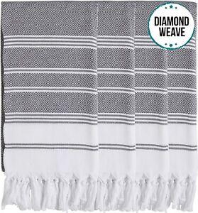 4 X Turkish Cotton Bath Beach Hammam Peshtemal Towel Blanket Throw Hamam Fouta