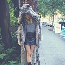 *2017 Women Winter Hooded Faux Fur Parka Long Coat Jacket Outwear Overcoat XXXL