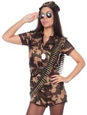 Sexy Womens Army Girl Costume Combat Chick Ladies Fancy Dress Outfit