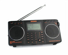 DEGEN DE1128H FM/MW/SW DSP RDS 4GB MP3 Recorder Dual Speaker Radio Receiver