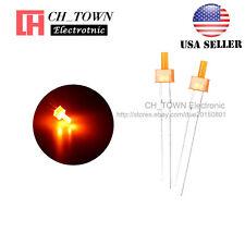 100pcs 2mm Diffused LED Diodes Orange Color Orange Light DIP Flat Top USA