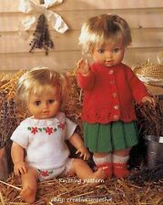 (710) Knitting Pattern for Dolls Indoor Outfit, 5 Pieces, 12-22''
