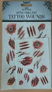 Halloween Scary Wound Blood Injury Scar Water Transfer Sticker DIY Body Tattoos