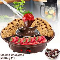 Electric Chocolate Melting Pot Fondue Maker Candy Dessert Cheese Fountain Boiler