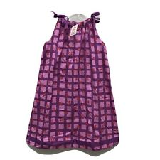 Hanna Andersson Multicolored  Print Cotton Pillow Case Dress Girls 140
