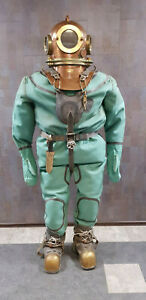 Original Russian Soviet 3-bolt diver's suit. Full-size dummy.USSR MARITIME