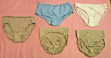 Vtg Lot of 5 Nylon Polyester Cotton Panties Maidenform Hanes Size M