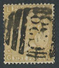 """GB utilizzati in Perù Z50 1867 9 D PAGLIA, GL, annullato con Bold """"C38"""" di Callao."""