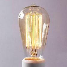 HOT! Vintage EDISON 110V 25W Incandescent Filament Lights Bulbs ST64 Globe Lamp