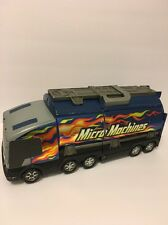 Micro Machines Hasbro Super Stunt City Semi Tanker Truck Playset 2001